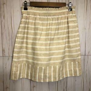 J. Crew mini striped skirt